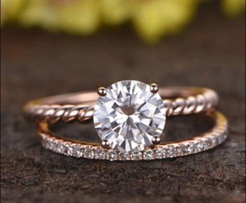 Anelli di fidanzamento più famosi al mondo, pietra moissanite,